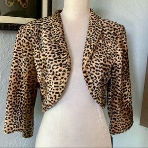 Leopard Print Crop Jacket